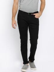 Arrow Blue Jean Co. Men Black Slim Fit Mid Rise Clean Look Jeans