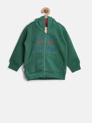 Baby League Boys Green Hooded Sweatshirt