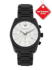 Emporio Armani Men Silver-Toned Chronograph Watch AR1492