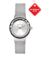 SKAGEN DENMARK Women Silver-Toned Dial Analogue Watch SKW2184I