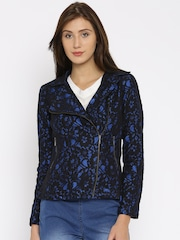 Vero Moda Black & Blue Lace Jacket