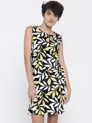 Vero Moda Women Black & Yellow Printed Sheath Dress