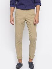 Allen Solly Men Beige Smart Fit Trousers