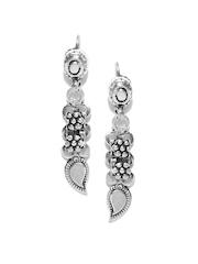ahilya Oxidised Silver Drop Earrings