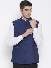 Van Heusen Blue Slim Nehru Jacket