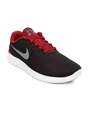 Nike Boys Black & Red Free RN GS Running Shoes