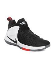 Nike Men Black & White ZOOM Witness LeBron James Mid-Top Basketball Shoes