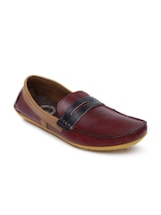 Knotty Derby Men Maroon Tom Driving Shoes