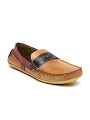 Knotty Derby Men Tan Solid Regular Loafers