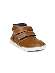 Boltio Boys Brown Slip-On Sneakers