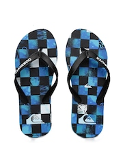 Quiksilver Men Black & Blue Printed Molokai Chakala Flip-Flops