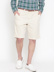 Tommy Hilfiger Men Beige Custom Fit Checked Shorts