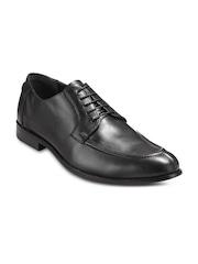 Teakwood Leathers Men Black Leather Derbys