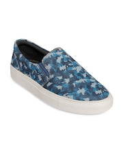 bacca bucci Men Blue Printed Loafers