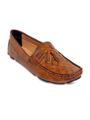 bacca bucci Men Brown Solid Regular Loafers