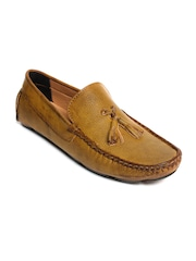 bacca bucci Men Tan Solid Regular Loafers