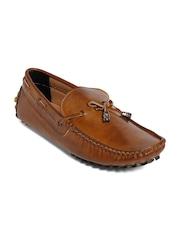 bacca bucci Men Brown Solid Regular Driving Shoes