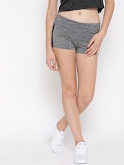 FOREVER 21 Women Grey Self-Design Skinny Fit Athletic Shorts