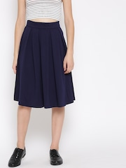 FOREVER 21 Navy Pleated Skirt