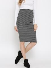 FOREVER 21 Black Striped Pencil Skirt