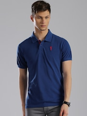 Bossini Men Blue Polo T-Shirt