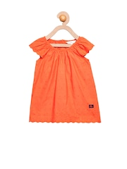Cherry Crumble Girls Orange Top