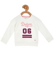 Cherry Crumble Girls White Printed Sweatshirt