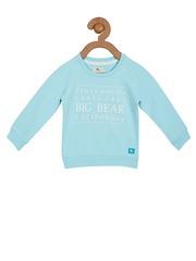Cherry Crumble Girls Blue Printed Sweatshirt