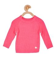 Cherry Crumble Girls Pink Sweater