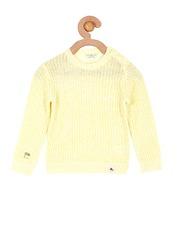 Cherry Crumble Girls Yellow Sweater
