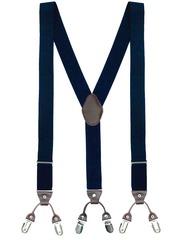 The Tie Hub Men Navy Suspenders