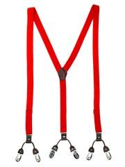 The Tie Hub Men Red Suspenders