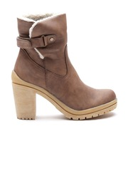 Carlton London Women Brown High-Top Heeled Boots