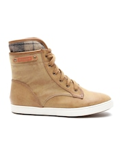 Carlton London Women Tan Brown High-Top Boots