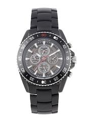 Michael Kors Men Gunmetal-Toned Skeleton Analogue Watch MK9012