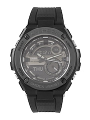 CASIO G-Shock Men Gunmetal-Toned & Black Multifunction Analogue & Digital Watch G694