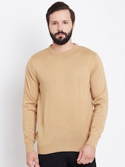 Blackberrys Men Beige Solid Sweater