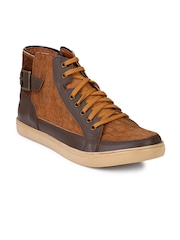 AADY AUSTIN Men Brown Leather Casual Shoes
