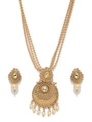 Fida Gold-Toned Multistranded Jewellery Set