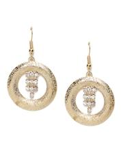 ToniQ Gold-Toned Stone-Studded Drop Earrings