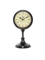 Athome by Nilkamal Beige Dial Vintage Analogue Table Clock
