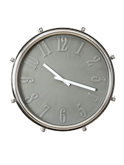 Athome by Nilkamal Grey Dial Analogue Wall Clock