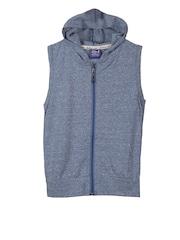 Lilliput Boys Blue Sleeveless Hooded Sweatshirt