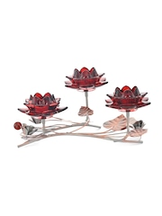 Athome by Nilkamal Red Candle Holders