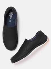 Roadster Men Black Solid Loafers