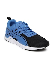 Puma Men Black & Blue Pulse XT V2 Colourblocked Running Shoes