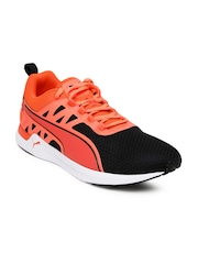 Puma Men Black & Neon Orange Pulse XT V2 Running Shoes