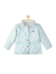 Cherry Crumble Boys Blue Quilted Jacket