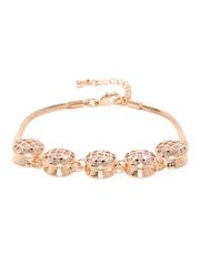 Sukkhi Rose Gold-Plated CZ Stone-Studded Bracelet