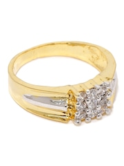 Sukkhi Men Gold & Rhodium-Plated CZ Stone-Studded Ring
